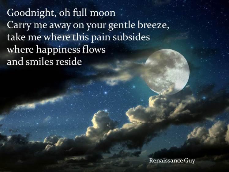 Goodnight, oh full moon