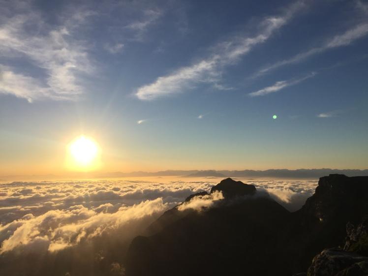 Sunrise at the Top of Table Mountain 365 Ubuntu Climbs