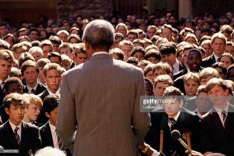 Neslon Mandela at KES 1993 Renaissance Guy