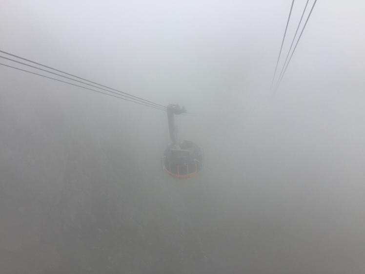 Misty Cable car Table Mountain 365 Ubuntu Climbs